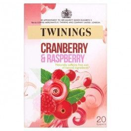 Herbal tea of cranberry and raspberry